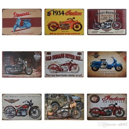 Wholesale iron motorcycle club - Vintage Motorcycle Design Iron Painting Locomotive Style Fashion Tin Sign For KTV And Night Club Decoration Tins Poster Hot Sale 20*30cm Z