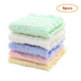 2020 fazzoletto per neonato 5 pezzi Mussola per bambini panno naturale cotone mussola salviette per neonati viso neonato asciugamano asciugamano fazzoletto pulire sconti fazzoletto per neonato