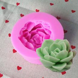 kaktus kerzen großhandel Rabatt Großhandel Rose Cactus Silikon Formen Kerzen handgemachte Seife Formen Ton Form Küche Backen Werkzeuge