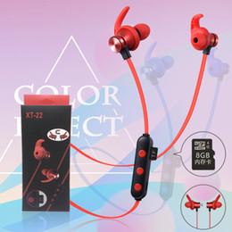 bluetooth наушники sd card Скидка XT22 Bluetooth для беспроводных наушников TF SD Card наушники с микрофоном бас-гитара Hi-Fi Гарнитура Стерео Наушники спортивные наушники