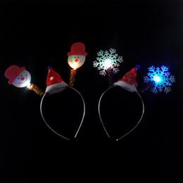 Подставки для оголовья онлайн-Гальванические светоизлучающие оголовье Рождество headbuckle детские светящиеся игрушки поле стенд горячий источник рождественские рога