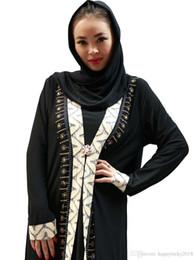 4860859e608 eastern long dresses Canada - Middle Eastern Arab Muslim Robe Islamic Hui  Diamond Long Sleeve Dress