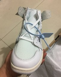 Wholesale White Canvas High Tops - Wholesale new 1 I HIGH OG White grey men basketball shoes 1s women sports outdoor trainers sneakers top quality box size 36-47