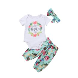 8707cb6a6 Emmababy 2018 Cute Newborn Baby Girl Tops Litter Girl Romper Floral Pants Outfits  Set Infant Clothes 0-24M