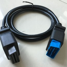 connecteur opel 16 broches Promotion 16 broches extension câble obd2 16pin extension câble 1.2 m OBDII OBD2 16Pin Extension OBD 2 Auto Diagnostic Câble Connecteur Adaptateur