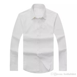 Argentina Envío de la gota 2017 hombres del otoño de manga larga Slim Fit sólido camisas de vestir de los hombres EE. UU. Marca RL POLO camisas moda Oxford camisa casual hombre cheap long fitted polo Suministro