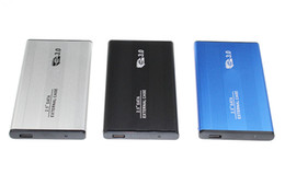 Wholesale case hd sata - 2.5 Inch Notebook SATA HDD Case To Sata USB 3.0 SSD HD Hard Drive Disk External Storage Enclosure Box With USB 3.0 Cable