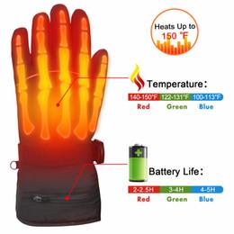 Canada 7.4V Gants chauffants électriques chauds et imperméables pour l'hiver. Gants chauffants rechargeables à piles de 2200mAh pour femme homme cheap heated warmer gloves Offre
