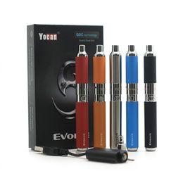 100% original yocan evoluir quartzo dupla bobina de cera caneta kit yocan evoluir kit vape canetas e-cigarro kits yocan evoluir mais cartuchos de vape de