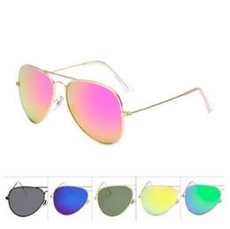 pilotensonnenbrille entspiegelte gläser Rabatt 23 Farben Unisex Mode Frosch Sonnenbrille Klassische Brillen Retro Aviator Spiegel Reflektierende Linse Sonnenbrille Outdoor Brillen CCA9306 10 stücke