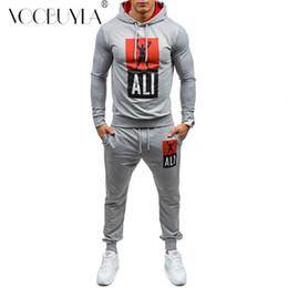 Voobuyla Automne Hommes Sportswear Ensemble de course Ensemble de sport Costumes de jogging Vêtements Survêtement Sweat + Pantalon Gym Traning Fitness ? partir de fabricateur