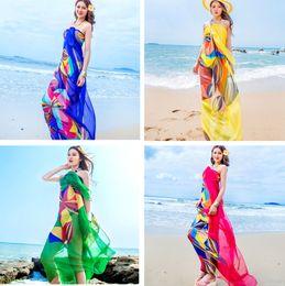2265bf294e Woman beach towel lady scarf summer sun block chiffon shawls scarf fashion  swimwear for girls bikini cover up sarong long shawl 190x140cm