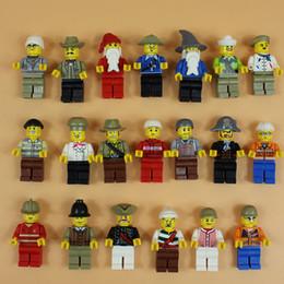 Wholesale Blocks Figures - New 20 Pcs Minifigures Figures Men People Minifigs 4.5cm Building Blocks Educational Toy For Kids Action Figures