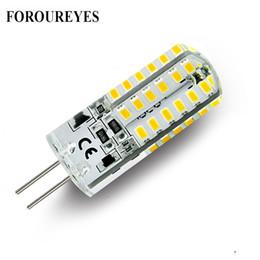 Wholesale G4 Led Lights Bulb - On sale 10pcs a lot G4 LED Lamp 12V 48 LEDS silicone Corn led Bulb crystal chandelier 3014SMD Spotlight White Warm white Light