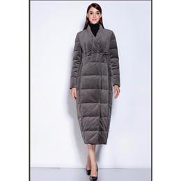 Womens Long Down Veste Gris Manteaux New Warm épais épais chauds Parkas coupe-vent ? partir de fabricateur