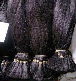 Wholesale Natural Indian Hair Bulk - 100% Human Hair Raw Indian Temple Hair Bulk Brading Hair Natural Color Dyeable 12-28 inch