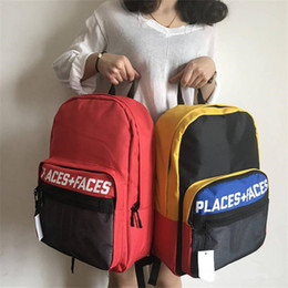 Wholesale Football Function - 2018 new PLACES+FACES backpack school fashion waterproof duffle bags men women P+F Multi-function sport backpacks travel outdoor bags