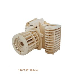 Wholesale educational train toys - 3D Building Blocks Wooden Camera Design Handmade Training Educational Toys Creative Children Puzzle Assemble Toy Gifts New Arrive 8 63mz2 Z