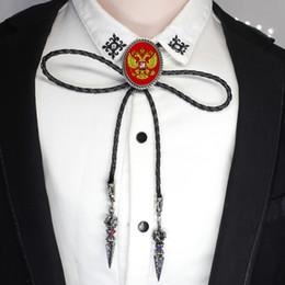 Nouveau Design Drapeau De La Russie Bolo Cravate Ouest Cowboy Shirt Accessoire Aigle à Double Tête Photo Bijoux Bolo-liens ? partir de fabricateur
