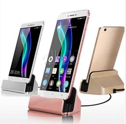 Wholesale Usb Desktop Sync - Quick Charger USB Desktop Cradle Charging Stand Sync For Iphone X 8 7 Plus Typle c For SAMSUNG GALAXY S8 Note Retail Bag