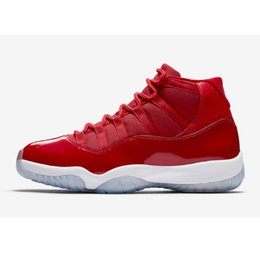 Wholesale Black Red 11s - With Box 2017 Air 11 Miami Hurricanes PE Gym Red Midnight Navy Velvet Black Stingray Shoes 11s Mens Womens Kids Basketball Sneaker