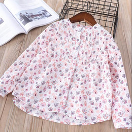 Wholesale Cartoon Kids Tees - Everweekend Girls Cartoon Print Ruffles Tees Cute Baby Pink Color Clothes Lovely Kids Korean Fashion Spring Autumn Tops