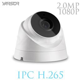 Wholesale Ir Waterproof Wireless Ip Camera - H.265 IP Camera 2MP ONVIF 1080p Outdoor Indoor Waterproof Night Vision Dome Camera IR-CUT Filter Home Security
