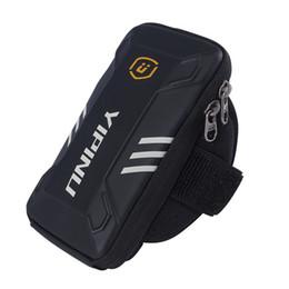 Monedero para el brazo online-A prueba de agua pequeño Fitness Running Bag Wallet Jogging Phone Holder Purse Brazalete Gym Arm Bag Accesorios Deportes