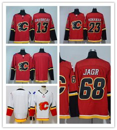 Wholesale Hi Ice - 2017-18 Men's Ice Hockey Jerseys #13 Johnny Gaudreau #23 Sean Monahan #68 Jaromir Jagr The Hi-Q traditional embroidery