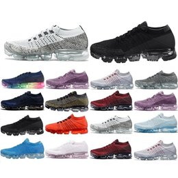 Wholesale Casual Fall - New Arrivals 2018 Men Vapormax Shock Racer Running Shoes all white black red gray red Top quality Fashion Casual Vapor Sports Running Shoes