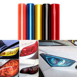 Wholesale Headlight Covers - 30cm*60cm Car Light Film Wrap Sheet Car Stickers Auto Headlight Taillight Tint Vinyl Film Cover Car Styling Exterior Accessories