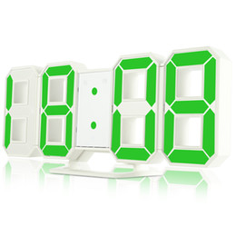 Wholesale Led Display Wall Clock - Original Modern Wall Clock Digital LED Table Clock Watches 24 or 12-Hour Display clock mechanism Alarm Snooze