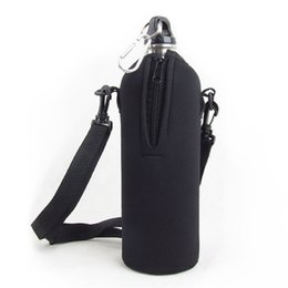 Wholesale Water Bottle Cover Wholesale - 1000 ML Travel Kettle Bottle Sleeve Convenient For Carry 2 Colors Sport Water Bottle Cover High Quality Outdoor Gadgets 11jy X