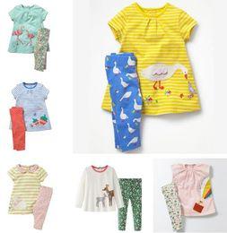 1c9ba7548da5 Discount flamingo clothing - Girl Cotton Clothes Sets Flamingos Animals  Appliques Clothing Sets Casual Kids Play