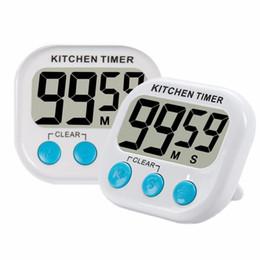 Temporizador de cozinha digital, Temporizador de cozinha, Grande número, Alarme sonoro, Suporte magnético, Branco (Excluindo bateria) de