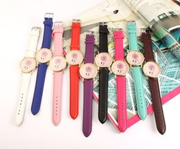 Wholesale Dreamcatcher Design - Fashion watches Dreamcatcher Campanula printing Design PU Leather watches women Luxury quartz casual wristwatches ladies Dress watch gifts