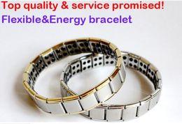 Wholesale Channel Selling - hot selling New arrival 100pcs Energy bracelet Titanium, Nano Energy Magnetic Germanium Titanium Bracelet Pain Relief Powerfull!