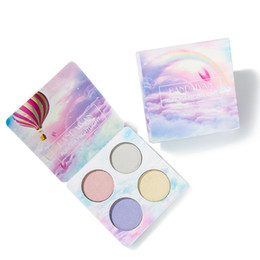 kits de resaltado Rebajas Dropshipping HANDAIYAN Chameleon Highlighter Palette Face Contour Makeup Highlighting Bronzer Glow Aurora Shimmer Eyeshadow Kit de cosméticos