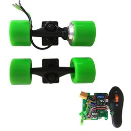 Wholesale Brushless Electric Hub Motors - Electric longboard 72mm hub motor kit skateboard brushless motor truck wheels 6inch single drive Aluminum flange truck