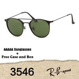 Wholesale G15 Lens - 2018 Best quality Brand Designer 3546 Sunglasses Men Women Alloy Frame G15 gradient Glass Lenses oculos de sol with cases and Box