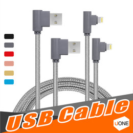Wholesale Micro Usb Data Transfer Cable - 90 Degree Micro USB Cable 3.3ft 1m Charge Cords Nylon Braided Micro USB Charger Cable, Data Transfer cable for Samsung LG Android