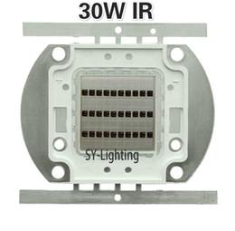 2019 led pcb pc De alta potencia 730nm IR 850nm 940nm 30W luz infrarroja del LED del bulbo de la lámpara de iluminación LED de luces Chip Bead