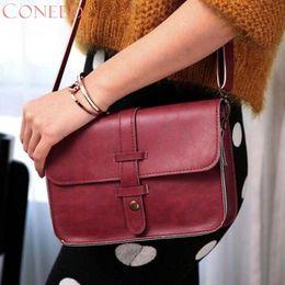 Wholesale Nice Coffee - CONEED Fashion Handbags Charming Nice Women Vintage Purse Bag Leather Cross Body Shoulder Messenger Bag May8 Y30