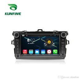 Wholesale Car Dvd Din Toyota Corolla - Octa Core 1024*600 Android 6.0 Car DVD GPS Navigation Multimedia Player Car Stereo for Toyota Corolla 2006 - 2011 Radio Headuint Free Map