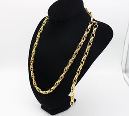 Wholesale Yellow Gold Jewellery Sets - Jewellery Set 18k Yellow Gold Filled Necklace Bracelet Set Oval Ring Chain Set