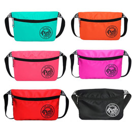 Wholesale Pink Purses Handbags - Pink Fanny Pack Pink Letter Waist Belt Bag Fashion Beach Travel Bags Waterproof Handbags Purses Outdoor Cosmetic Bag