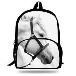 Wholesale Horse School Bags - 16-Inch Popular Animal Bags Children School Bags Zebra Backpack For Kids Girls Horse Print Backpacks For Boys Animal Backpack