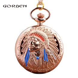 Montre de poche Rétro Antique Bronze Indiens Cuivre Or Creux Métal Vintage Flip Fob Horloge Avec Chaîne Collier Pour Hommes Enfants Cadeaux ? partir de fabricateur