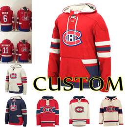 Argentina Personalizado Hombres Montreal Canadiens Jonathan Drouin Carey Price 6 Shea Weber Max Domi Andrew Shaw Sudadera con capucha Jordie Benn cheap montreal canadiens sweatshirts Suministro