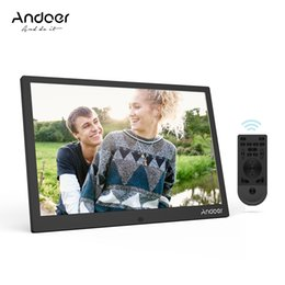 Wholesale Photo Playing Cards - Andoer 12Inch LED Digital Photo Frame 1280*800 Support 1080P Video Play Aluminum Alloy with Remote Control